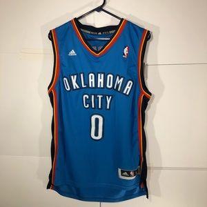 Russell Westbrook OKC Thunder Adidas Jersey Medium